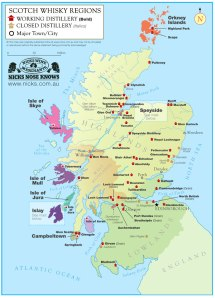 scotch whisky map