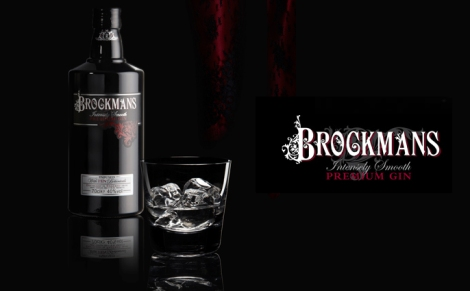 brockmans bottle and glass